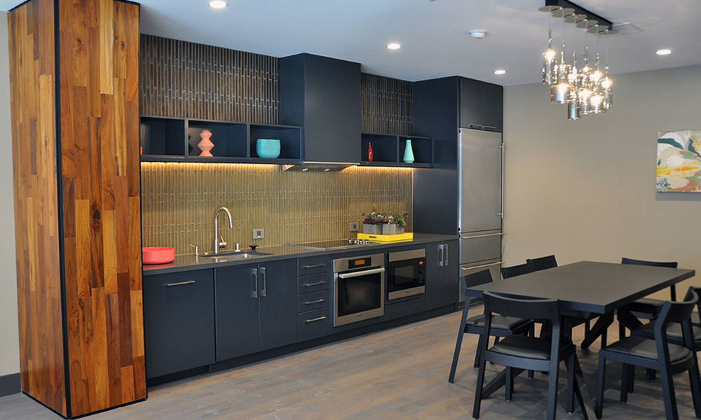 High Rise Apartment Kitchen Remodel - Diablo Valley Cabinetry